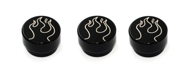 All Sales Interior Dash Knobs (set of 3)- Flame Black - AMI - Dropship Direct Wholesale