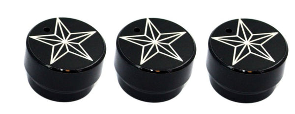 All Sales Interior Dash Knobs (set of 3)- Star Black - AMI - Dropship Direct Wholesale