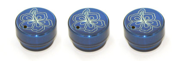All Sales Interior Dash Knobs (set of 3)- Hibiscus Blue - AMI - Dropship Direct Wholesale