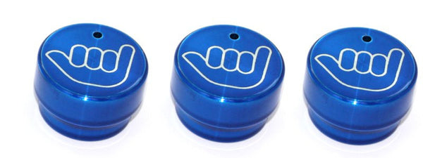 All Sales Interior Dash Knobs (set of 3)- Hang Loose Blue - AMI - Dropship Direct Wholesale