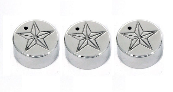 All Sales Interior Dash Knobs (set of 3)- Star Polished - AMI - Dropship Direct Wholesale