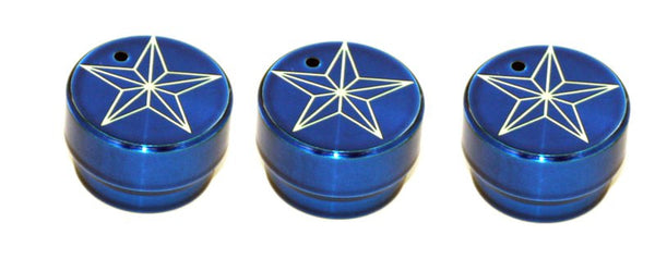 All Sales Interior Dash Knobs (set of 3)- Star Blue - AMI - Dropship Direct Wholesale