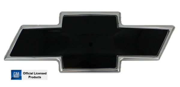 All Sales Chevy Bowtie Grille Emblem - Polished/Black Powdercoat - AMI - Dropship Direct Wholesale