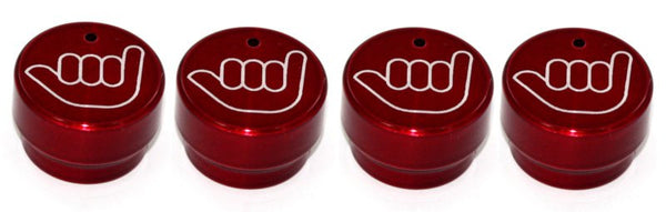 All Sales Interior Dash Knobs (set of 4) AC+4wd knob- Hang Loose Red - AMI - Dropship Direct Wholesale