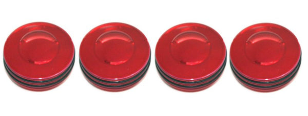 All Sales Interior Dash Knobs (set of 4) AC+4wd knob- O-ring Red - AMI - Dropship Direct Wholesale