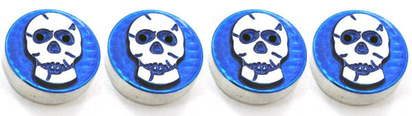 All Sales Interior Dash Knobs (set of 4) AC+4wd knob- Skull Blue - AMI - Dropship Direct Wholesale