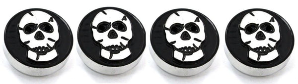 All Sales Interior Dash Knobs (set of 4) AC+4wd knob- Skull Black - AMI - Dropship Direct Wholesale