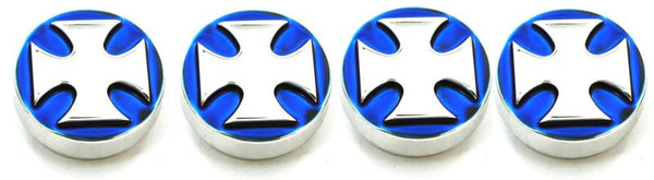 All Sales Interior Dash Knobs (set of 3 & 4wd knob)- Iron Cross Blue - AMI - Dropship Direct Wholesale