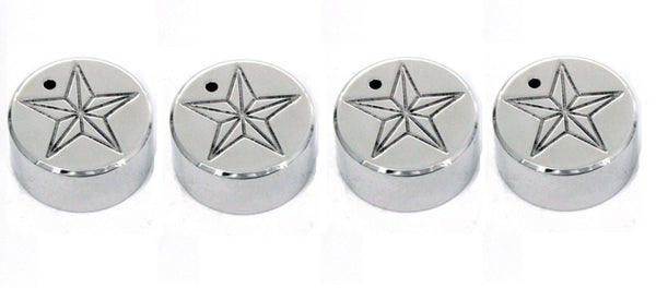 All Sales Interior Dash Knobs (set of 3 & 4wd knob)- Star Polished - AMI - Dropship Direct Wholesale