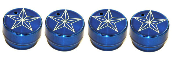 All Sales Interior Dash Knobs (set of 3 & 4wd knob)- Star Blue - AMI - Dropship Direct Wholesale