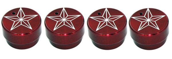 All Sales Interior Dash Knobs (set of 3 & 4wd knob)- Star Red - AMI - Dropship Direct Wholesale