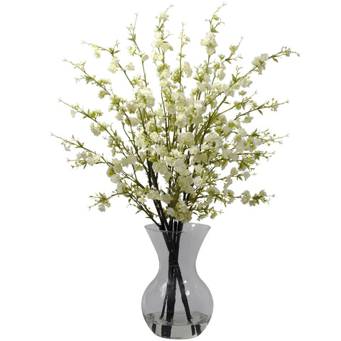 Cherry Blossoms w/Vase Arrangement - Nearly Natural - Dropship Direct Wholesale