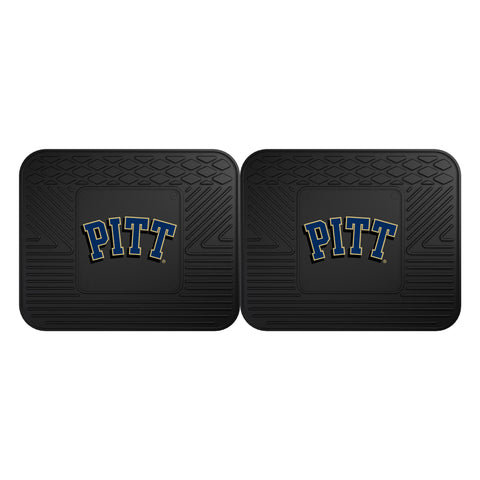University of Pittsburgh Backseat Utility Mats 2 Pack 14x17 - FANMATS - Dropship Direct Wholesale