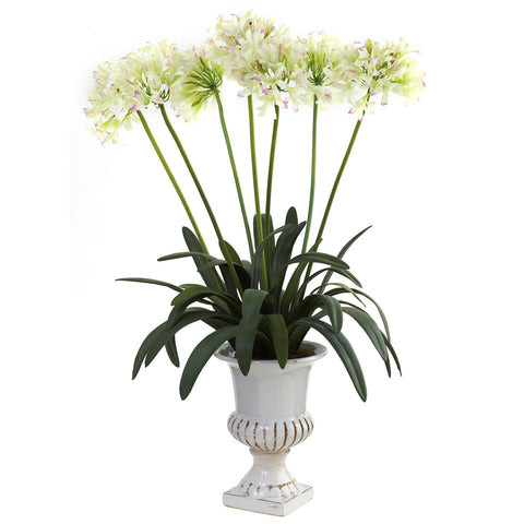 African Lily w/Urn - Nearly Natural - Dropship Direct Wholesale