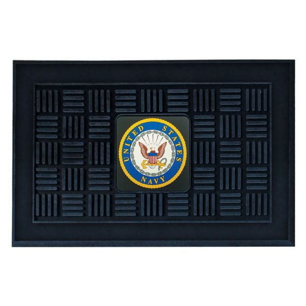 Navy Licensed Medallion Door Mat - FANMATS - Dropship Direct Wholesale
