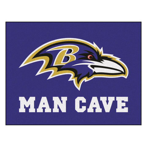 Baltimore Ravens Man Cave All-Star Mat 33.75x42.5 - FANMATS - Dropship Direct Wholesale