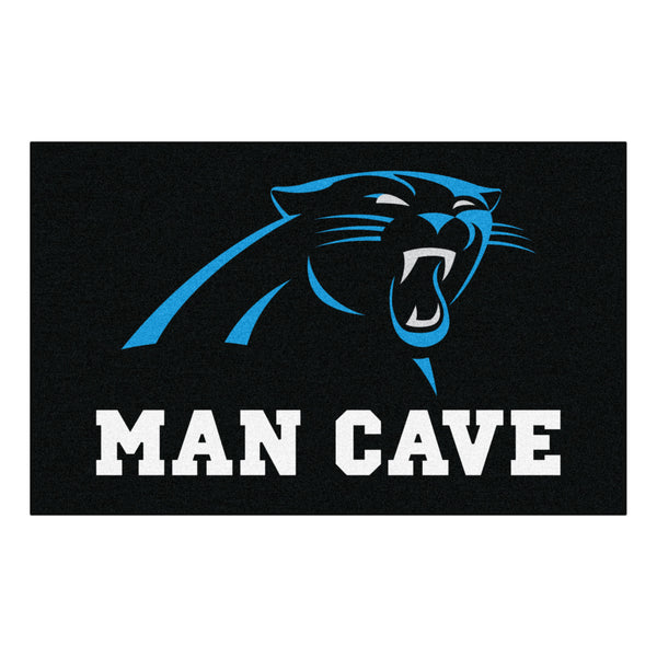 Carolina Panthers Man Cave UltiMat Rug 5x8 - FANMATS - Dropship Direct Wholesale