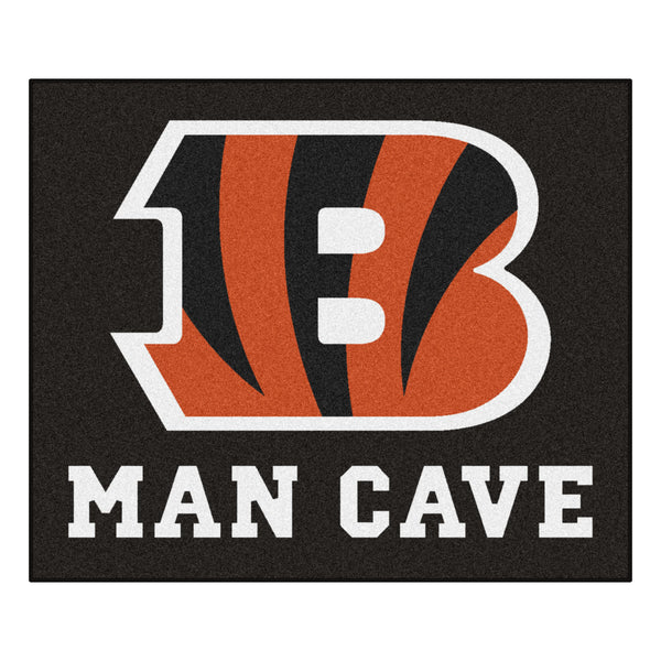 Cincinnati Bengals Man Cave Tailgater Rug 5x6 - FANMATS - Dropship Direct Wholesale