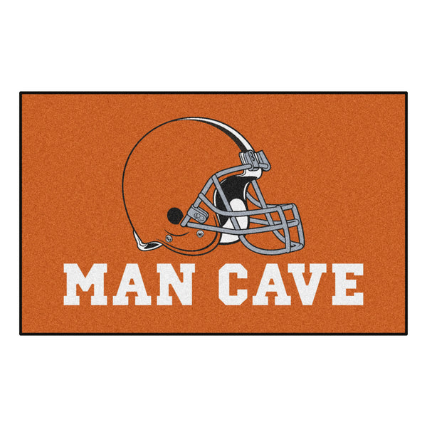 Cleveland Browns Man Cave UltiMat Rug 5x8 - FANMATS - Dropship Direct Wholesale