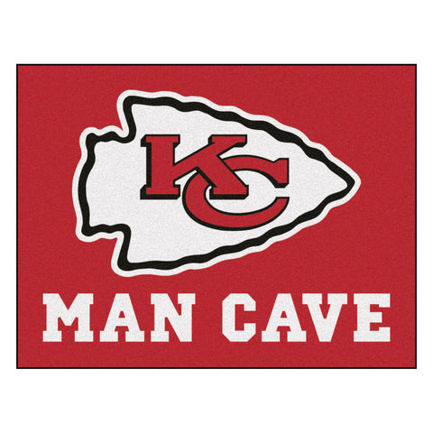 Kansas City Chiefs Man Cave All-Star Mat 33.75x42.5 - FANMATS - Dropship Direct Wholesale