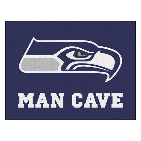 Seattle Seahawks Man Cave All-Star Mat 33.75x42.5 - FANMATS - Dropship Direct Wholesale