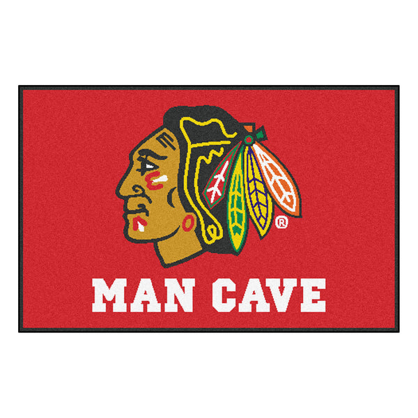 Chicago Blackhawks Man Cave Starter Rug 19x30 - FANMATS - Dropship Direct Wholesale