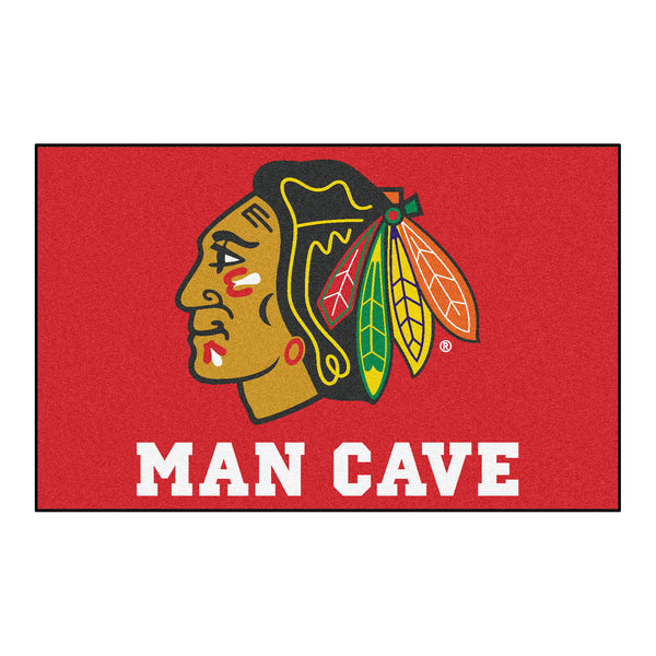 Chicago Blackhawks Man Cave UltiMat Rug 5x8 - FANMATS - Dropship Direct Wholesale
