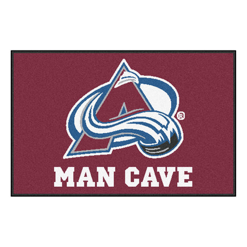 Colorado Avalanche Man Cave Starter Rug 19x30 - FANMATS - Dropship Direct Wholesale