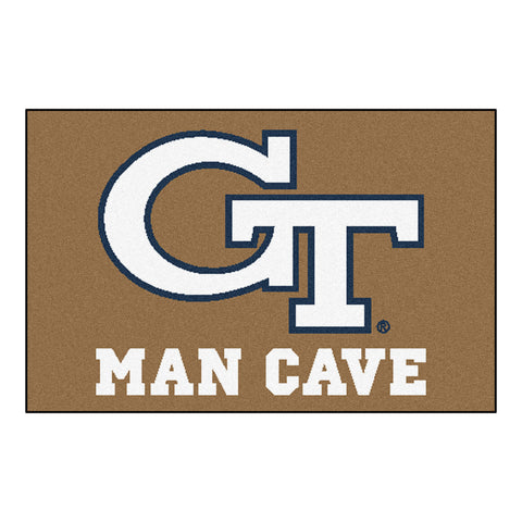 Georgia Tech Man Cave Starter Rug 19x30 - FANMATS - Dropship Direct Wholesale