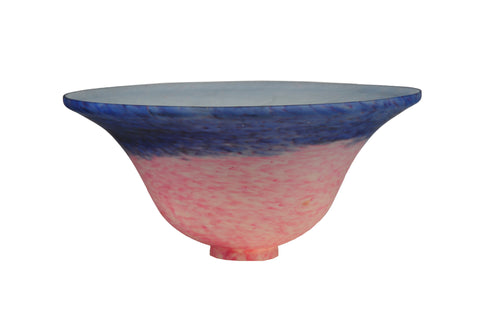 10 Inch W Pink/Blue Pate-de-verre Bell Shade - Meyda - Dropship Direct Wholesale