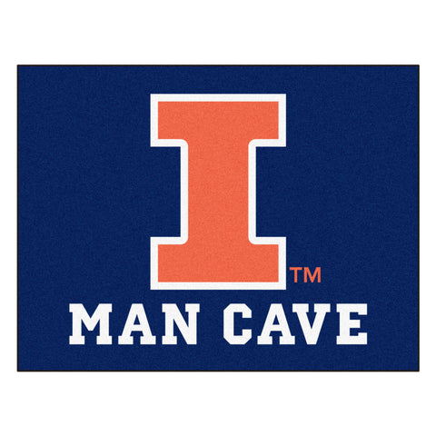University of Illinois Man Cave All-Star Mat 33.75x42.5 - FANMATS - Dropship Direct Wholesale