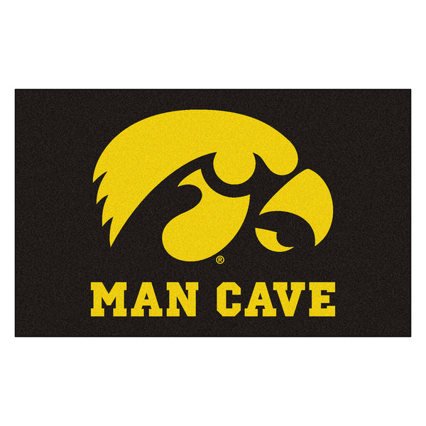 University of Iowa Man Cave UltiMat Rug 5x8 - FANMATS - Dropship Direct Wholesale