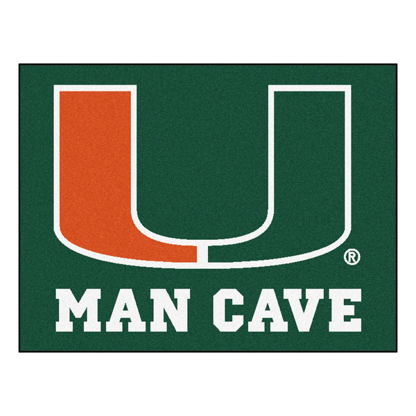 University of Miami Man Cave All-Star Mat 33.75x42.5 - FANMATS - Dropship Direct Wholesale