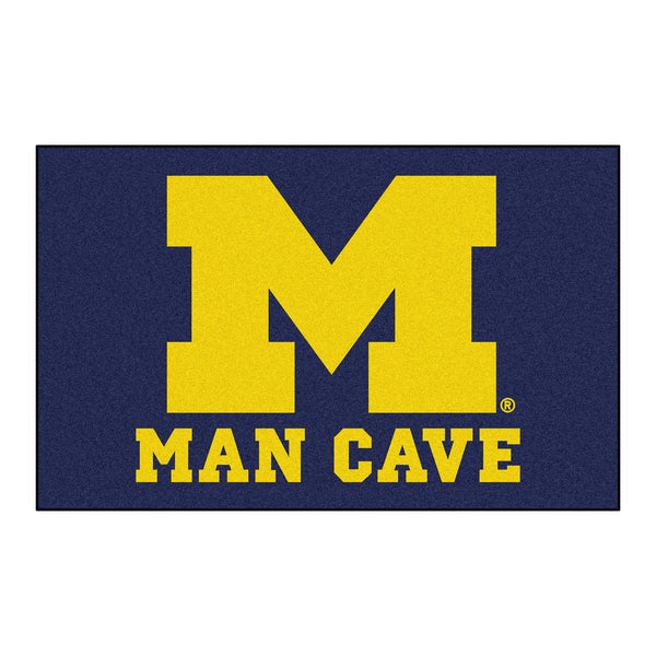 University of Michigan Man Cave UltiMat Rug 5x8 - FANMATS - Dropship Direct Wholesale