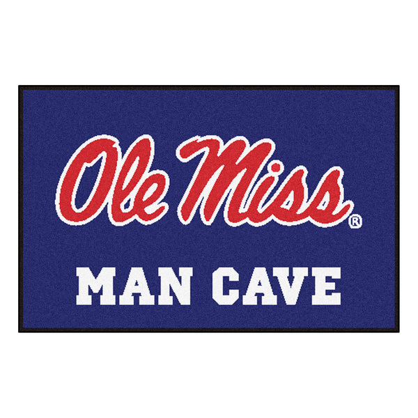 University of Mississippi - University of Mississippi Man Cave Starter Rug 19x30 - FANMATS - Dropship Direct Wholesale
