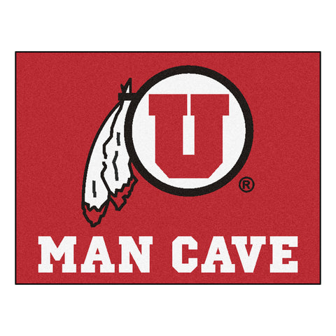 University of Utah Man Cave All-Star Mat 33.75x42.5 - FANMATS - Dropship Direct Wholesale