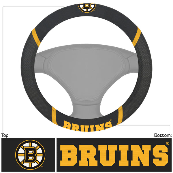Boston Bruins Steering Wheel Cover 15x15 - FANMATS - Dropship Direct Wholesale