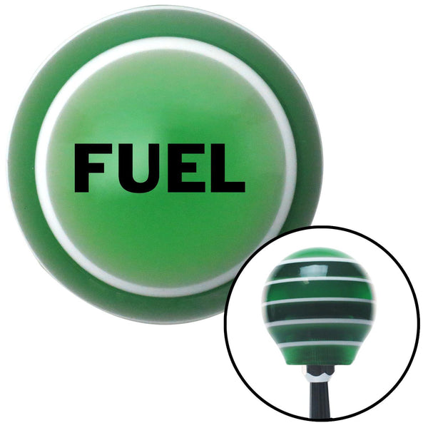 Black Fuel Green Stripe Shift Knob with M16 x 15 Insert - American Shifter - Dropship Direct Wholesale