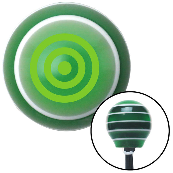 Green Bulls Eye Green Stripe Shift Knob with M16 x 15 Insert - American Shifter - Dropship Direct Wholesale