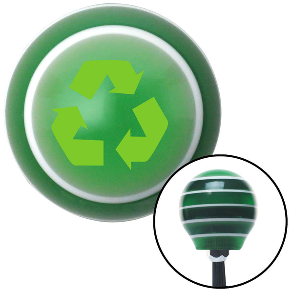Green Recycle Green Stripe Shift Knob with M16 x 15 Insert - American Shifter - Dropship Direct Wholesale