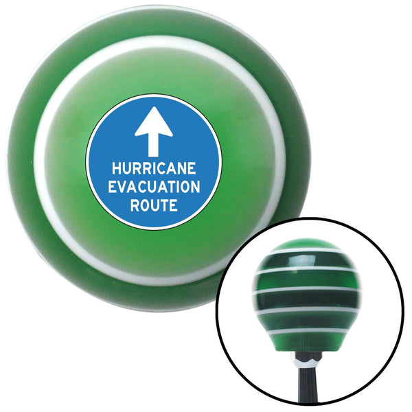 Hurricane Evacuation Green Stripe Shift Knob with M16 x 15 Insert - American Shifter - Dropship Direct Wholesale