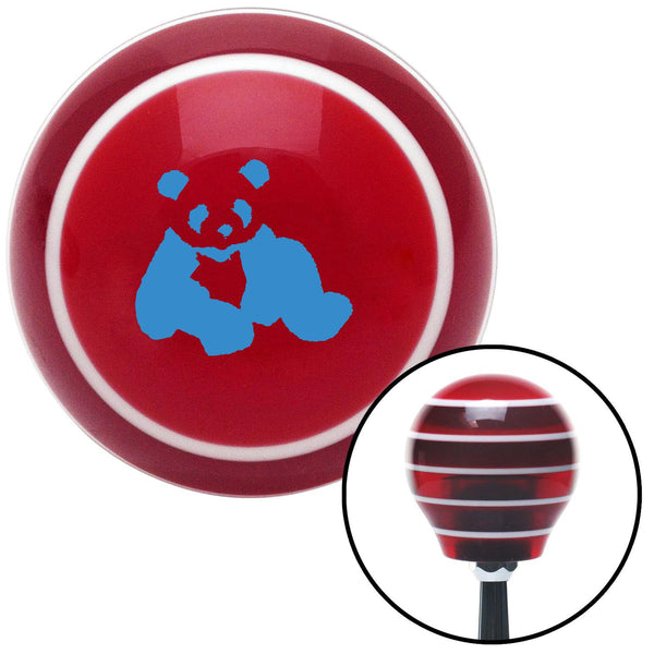 Blue Panda Bear Red Stripe Shift Knob with M16 x 15 Insert - American Shifter - Dropship Direct Wholesale