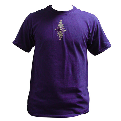 AutoLoc Large Purple Short Sleeve Pinstripe T Shirt STYLE 1 - AutoLoc - Dropship Direct Wholesale - 1