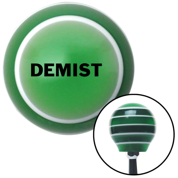 Black Demist Green Stripe Shift Knob with M16 x 15 Insert - American Shifter - Dropship Direct Wholesale