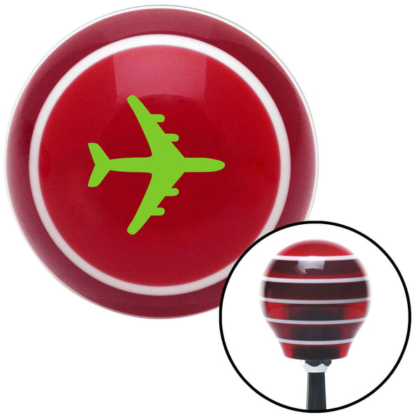 Green Commercial Airplane Red Stripe Shift Knob with M16 x 15 Insert - American Shifter - Dropship Direct Wholesale
