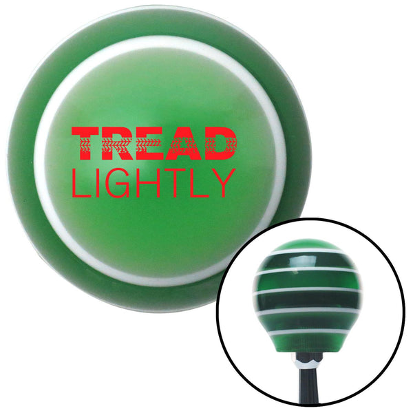 Red Tread Lightly Green Stripe Shift Knob with M16 x 15 Insert - American Shifter - Dropship Direct Wholesale
