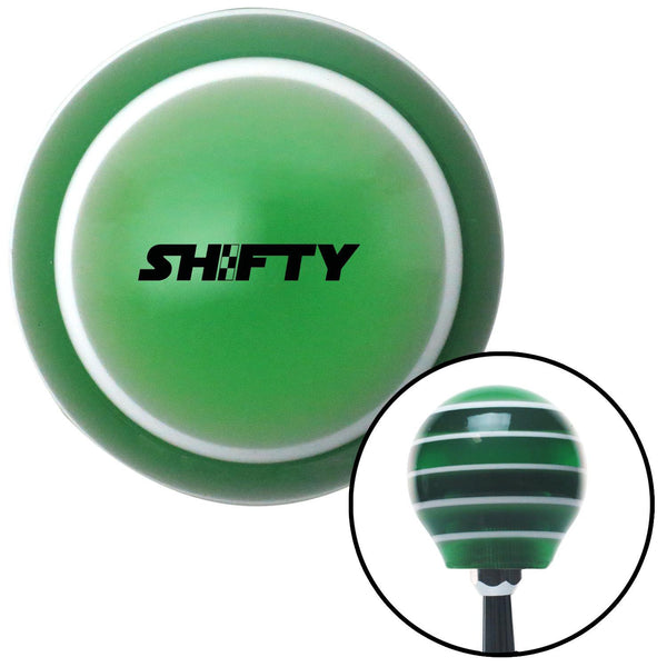 Black Shifty Green Stripe Shift Knob with M16 x 15 Insert - American Shifter - Dropship Direct Wholesale