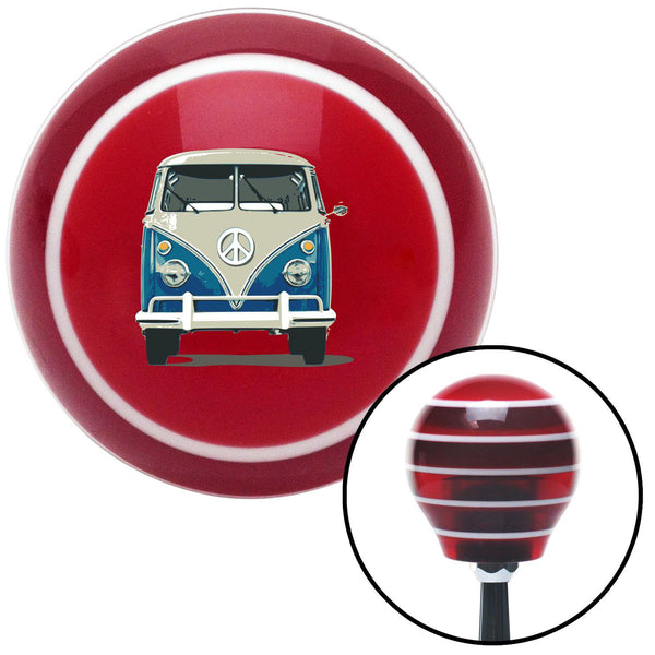 Classic VW Red Stripe Shift Knob with M16 x 15 Insert - American Shifter - Dropship Direct Wholesale