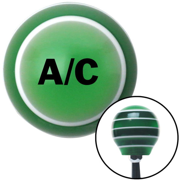 Black AC Green Stripe Shift Knob with M16 x 15 Insert - American Shifter - Dropship Direct Wholesale
