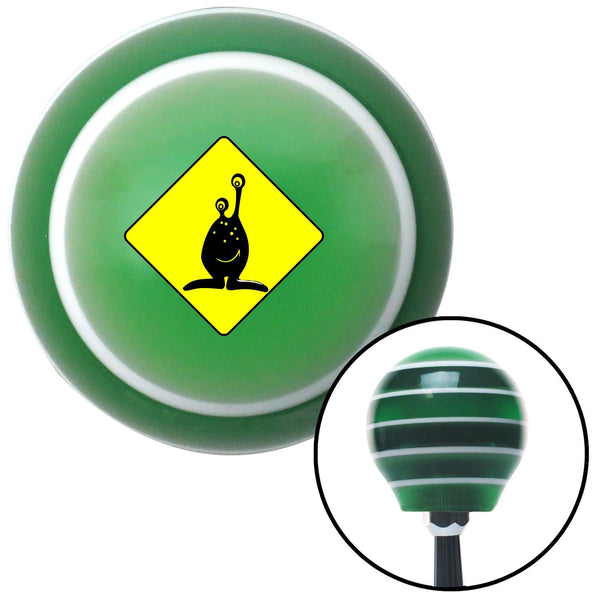 Yield to Alien Green Stripe Shift Knob with M16 x 15 Insert - American Shifter - Dropship Direct Wholesale